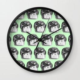 Minifigure Pattern – Mint Wall Clock