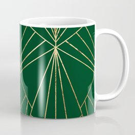 Art Deco in Gold & Green - Large Scale Coffee Mug