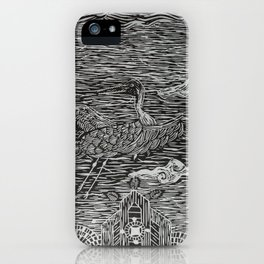 Flying Crane iPhone Case