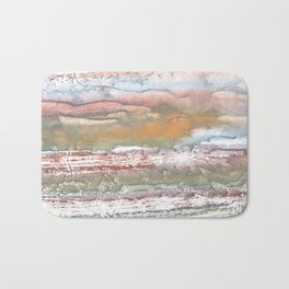 Rosy brown blurred watercolor picture Bath Mat