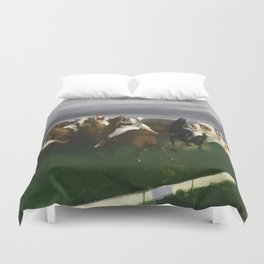 Polo at Lakewood - George Bellows  Duvet Cover
