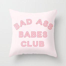 badass babes club Throw Pillow