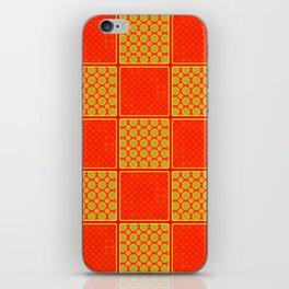 Orange Checks - Plain Orange and Orange Patterened Check Design iPhone Skin
