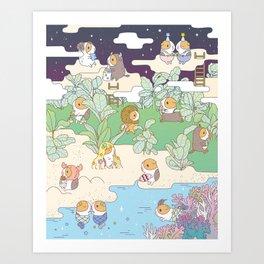 Bubu Horoscope Land Kunstdrucke