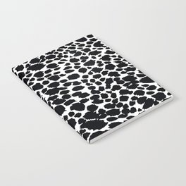 Animal Print Cheetah Black and White Pattern #4 Notebook