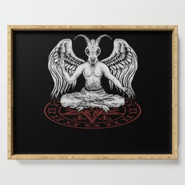 Baphomet Pentagram Nu Goth Occult Witch Satanism Serving Tray