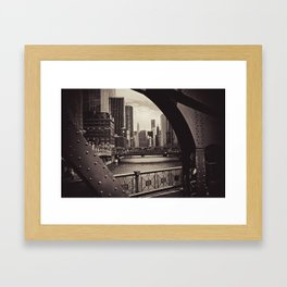 Up The Chicago River Framed Art Print