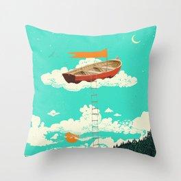 DREAM BOAT Throw Pillow