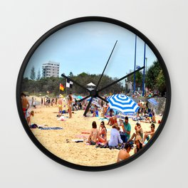 Moo Beach Wall Clock
