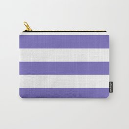 Blue-violet (Crayola) - solid color - white stripes pattern Carry-All Pouch
