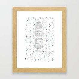 Kinney Recipe Tea Towel Framed Art Print