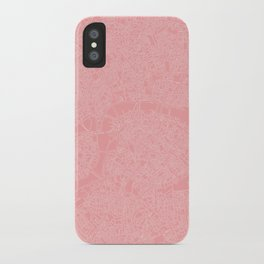 London Map PINK iPhone Case