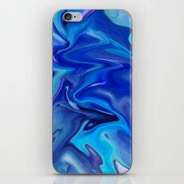 blue waves iPhone Skin