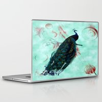 mandie manzano Laptop & iPad Skins featuring Peacock by SuzanneCarter