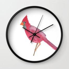 Cardinal Dreams Watercolor Wall Clock