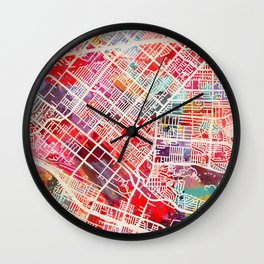 La Puente map California CA 2 Wall Clock