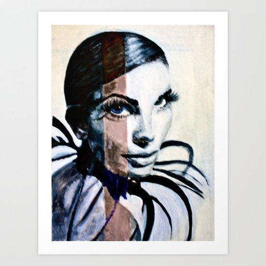 Lady Sphinx Art Print