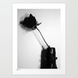 Rose and wine II Art Print