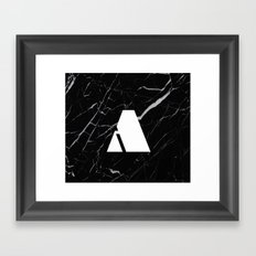 Black Marble - Alphabet A Framed Art Print