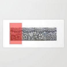 Four sides of a box (ii) Art Print