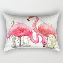 Pink Flamingos Rectangular Pillow