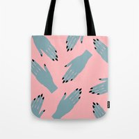 Tote Bags featuring Vampy Hands by Grunge Kitten