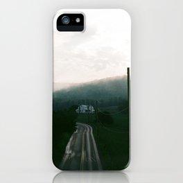 Foggy Sunset on Film iPhone Case