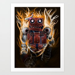 The Lady and The Robot Art Print