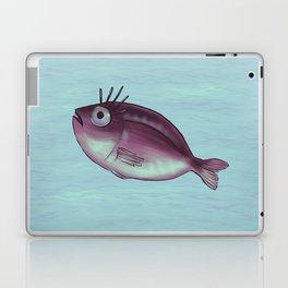 Funny Fish With Fancy Eyelashes Laptop & iPad Skin