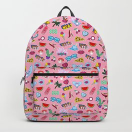 Patch punch pink Backpack