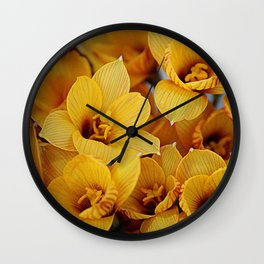 Copper Lily Wall Clock