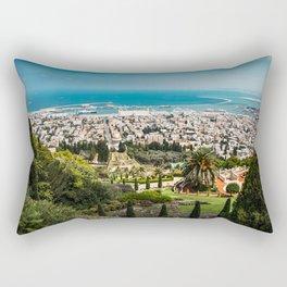 Bahá'í Gardens, Haifi, Israel Rectangular Pillow