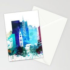 Denver Watercolor Skyline Stationery Cards