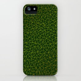 Gold Lowpoly in Green Background iPhone Case
