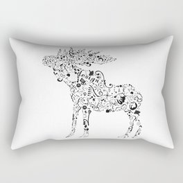 Many shapes of the Moose Rectangular Pillow