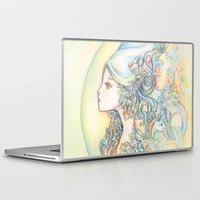 zodiac Laptop & iPad Skins featuring Zodiac - Aquarius by Hellobaby