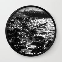 sparkles Wall Clocks featuring Sparkles by Anne Seltmann
