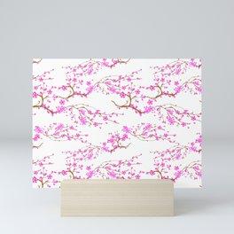 Japanese,sakura tree.Pink cherry blossom flower. Mini Art Print