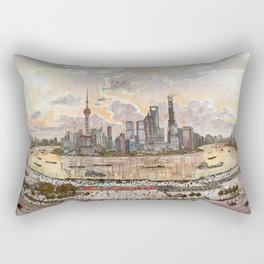Shanghai Pudong Rectangular Pillow