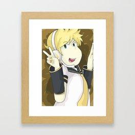 Len Framed Art Print