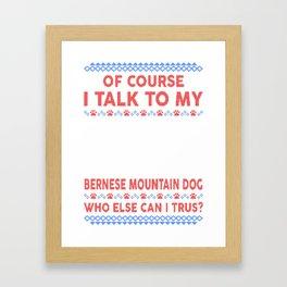 Bernese Mountain Dog Ugly Christmas Sweater Framed Art Print