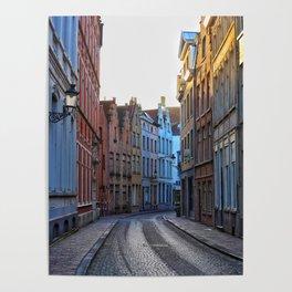 Belgium, Cobblestone Street 2 Poster
