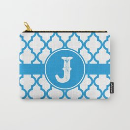 Blue Monogram: Letter J Carry-All Pouch
