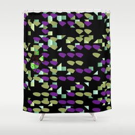 Magenta Lime Floaters Shower Curtain