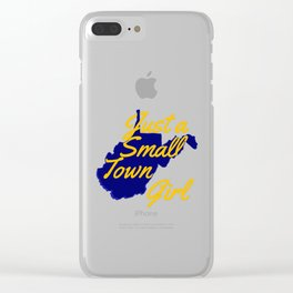 Blue & Gold WV Girl Clear iPhone Case