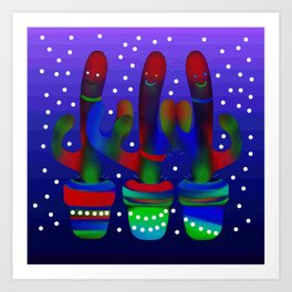 Cactus Rainbow 03 Art Print