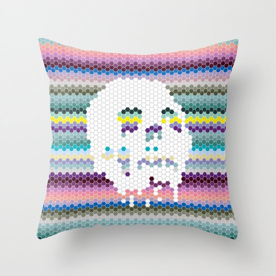 Color the Skull Throw Pillow