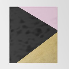 Color Block Glam Triangles Throw Blanket