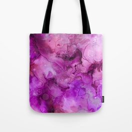 Abstract modern magenta pink lilac violet watercolor brushstrokes Tote Bag