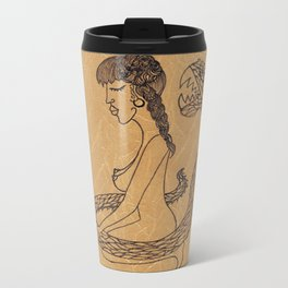 SnakeGirl Metal Travel Mug